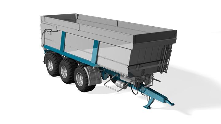 Strenx® nagy teljesítményű acél felhasználásával készült pótkocsi