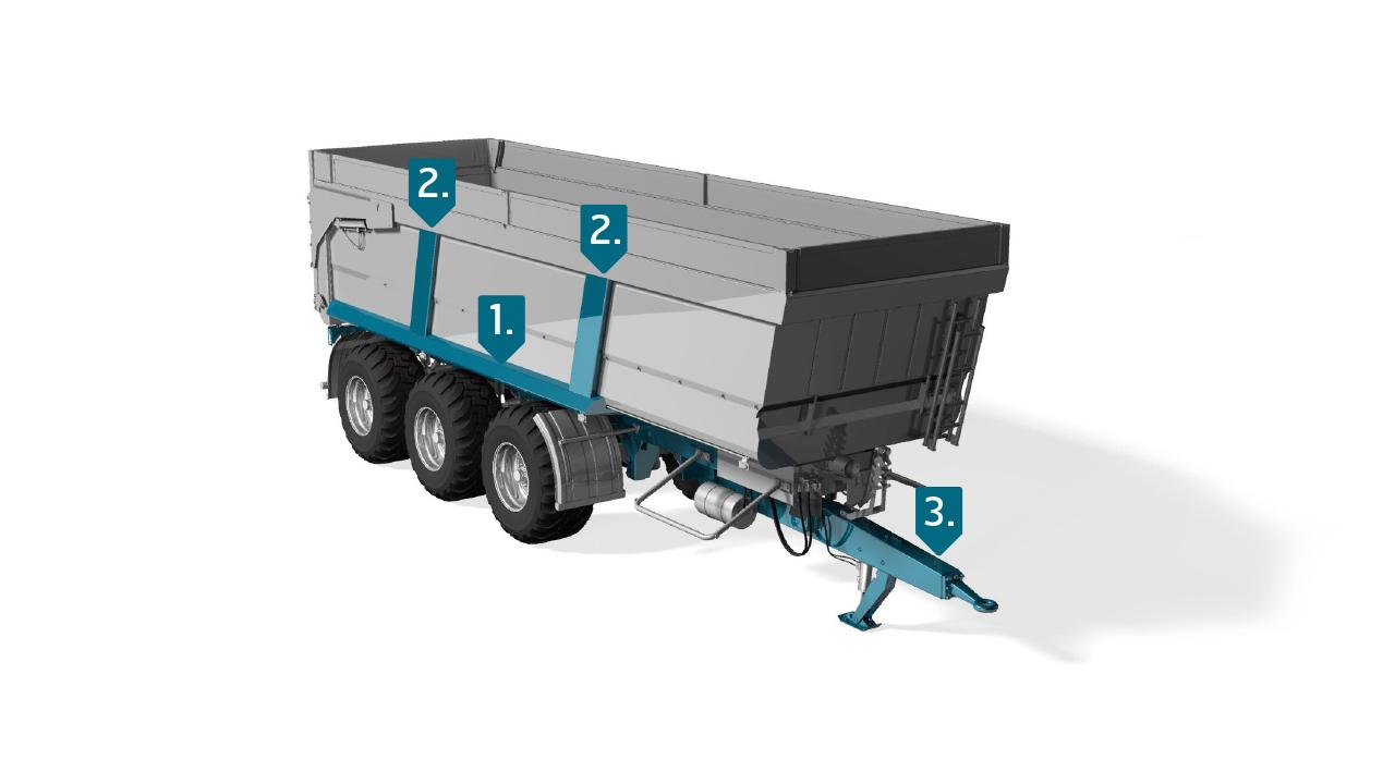 Ocel Strenx® pro zemědělské návěsy
