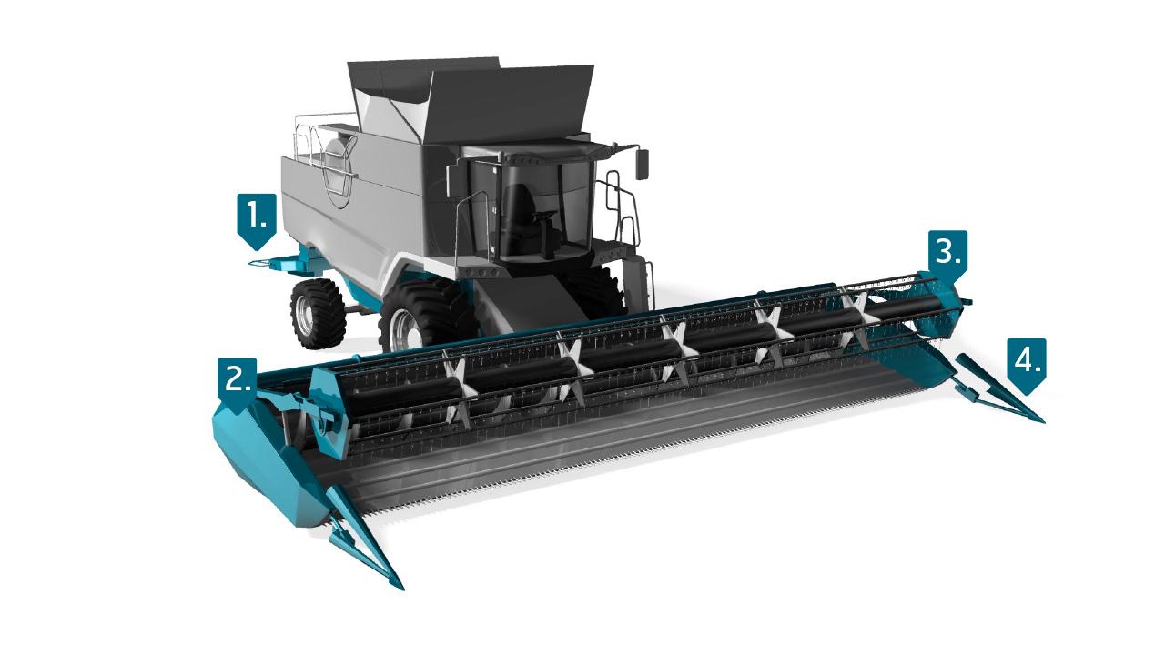 Ocel Strenx® pro sklízecí stroje
