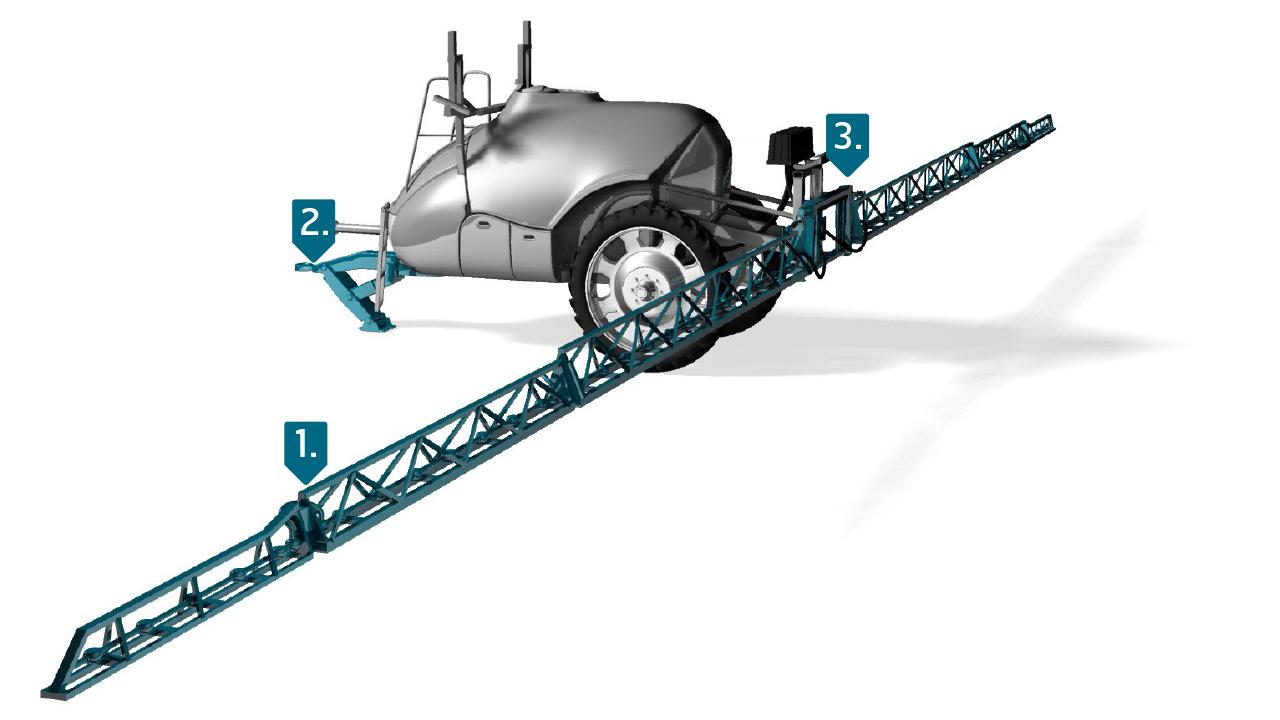 Strenx® nagy teljesítményű acél felhasználásával készült permetezőgép
