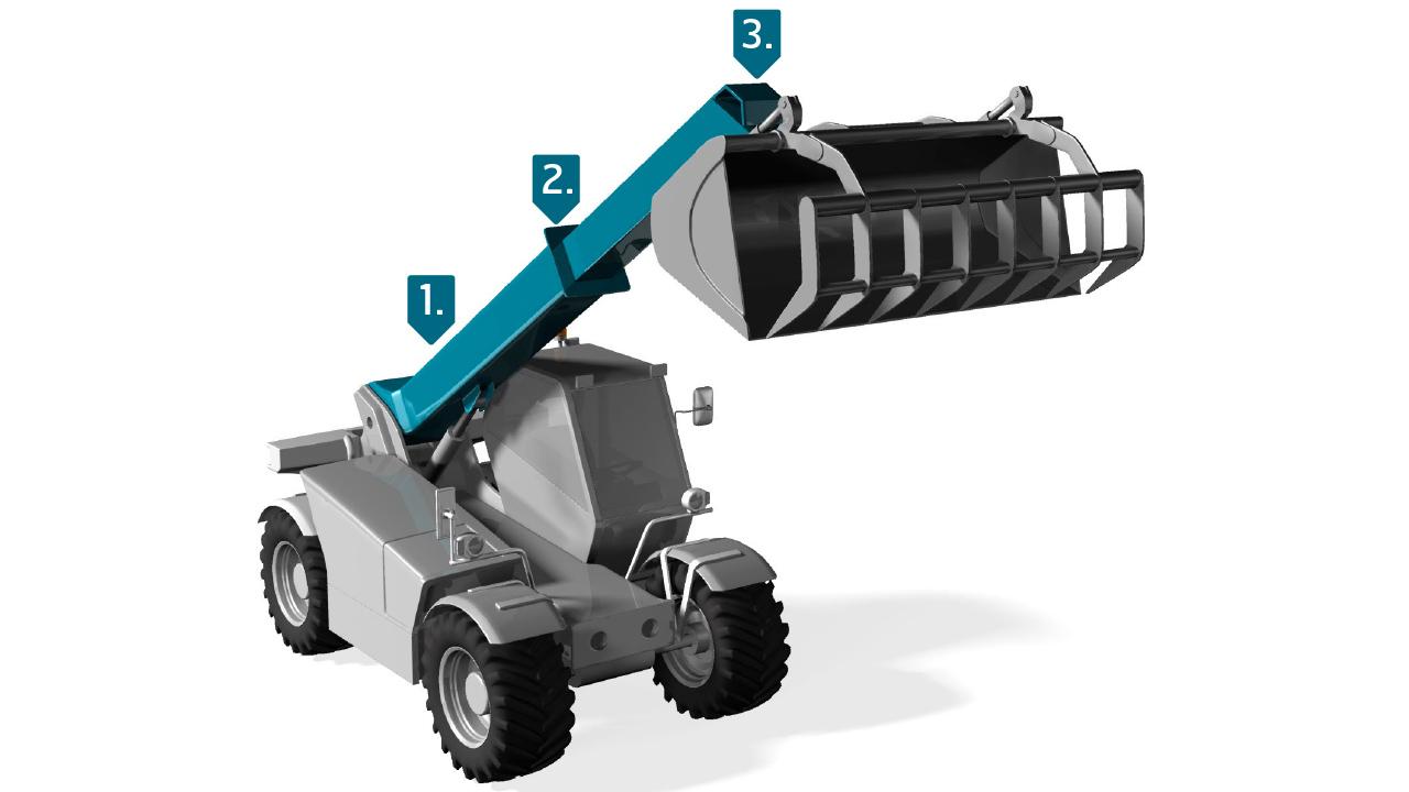 Ocel Strenx® pro teleskopické nakladače