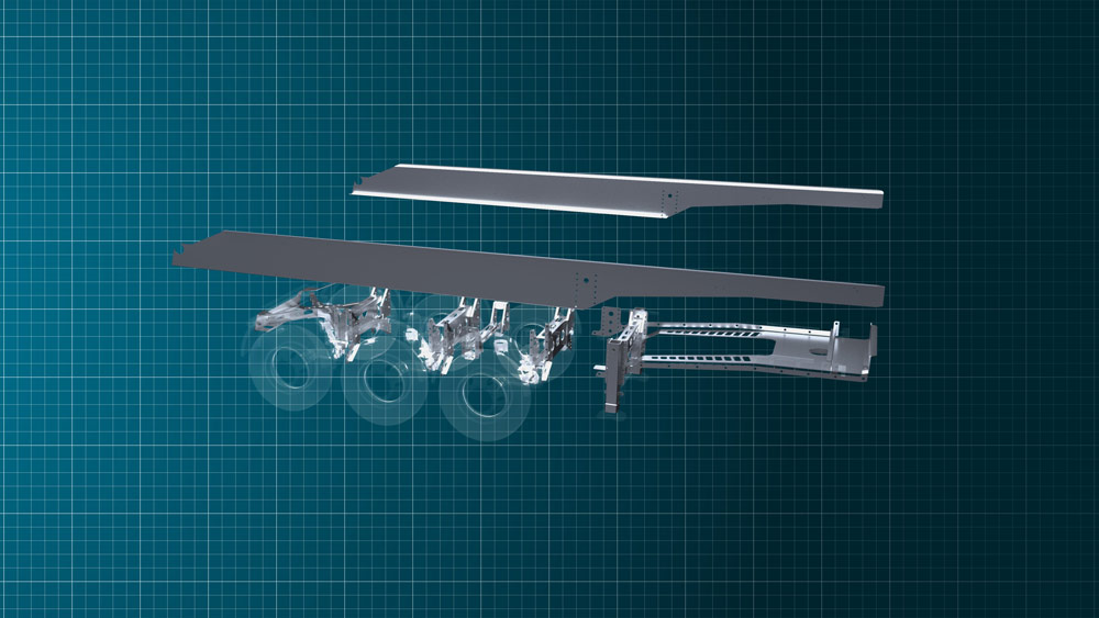 light trailer chassis