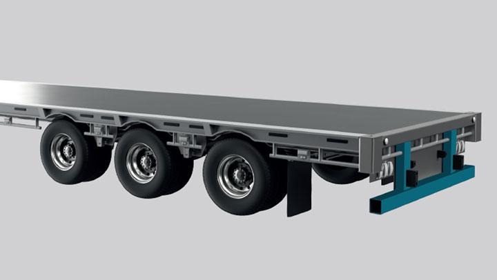 Rear underrun protection device