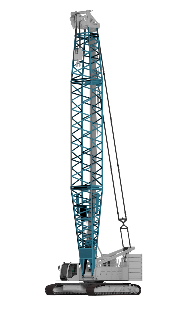 Crane with a boom section made in high-strength Strenx® hollow section.