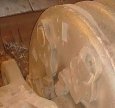 Car shredder axle