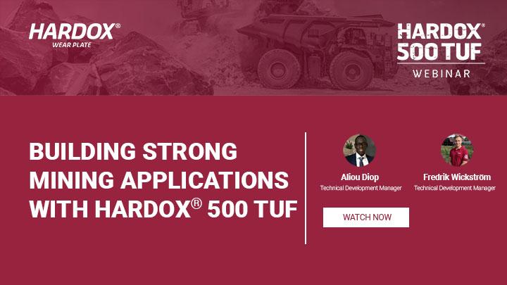 building strong mining applications with Hardox® 500 Tuf webinar