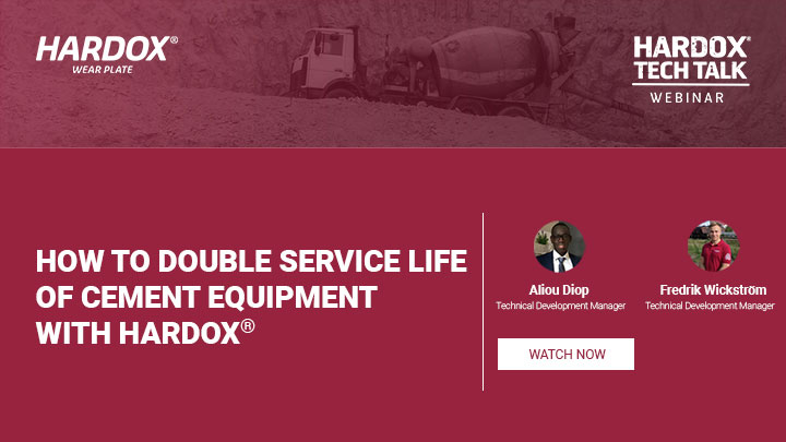 How to double service life of cement equipment with Hardox®
